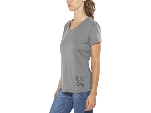 Helly Hansen Une Camiseta Manga Corta Mujer, gris